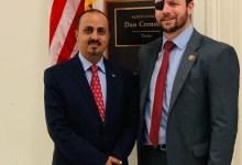 وزير الاعلام يلتقي عضو الكونغرس الأمريكي بين كريشنو