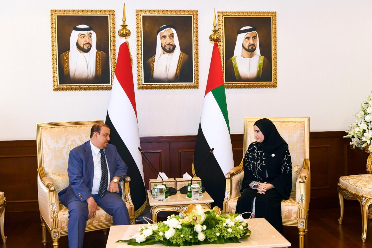 البركاني يلتقي رئيس المجلس الوطني الاتحادي الاماراتي ويوقع مذكرة تفاهم بين المجلسين