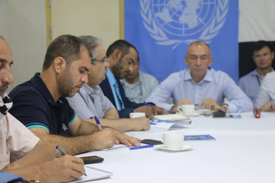 الفريق الحكومي في لجنة إعادة الانتشار يستعرض خروقات المليشيا لوقف اطلاق النار