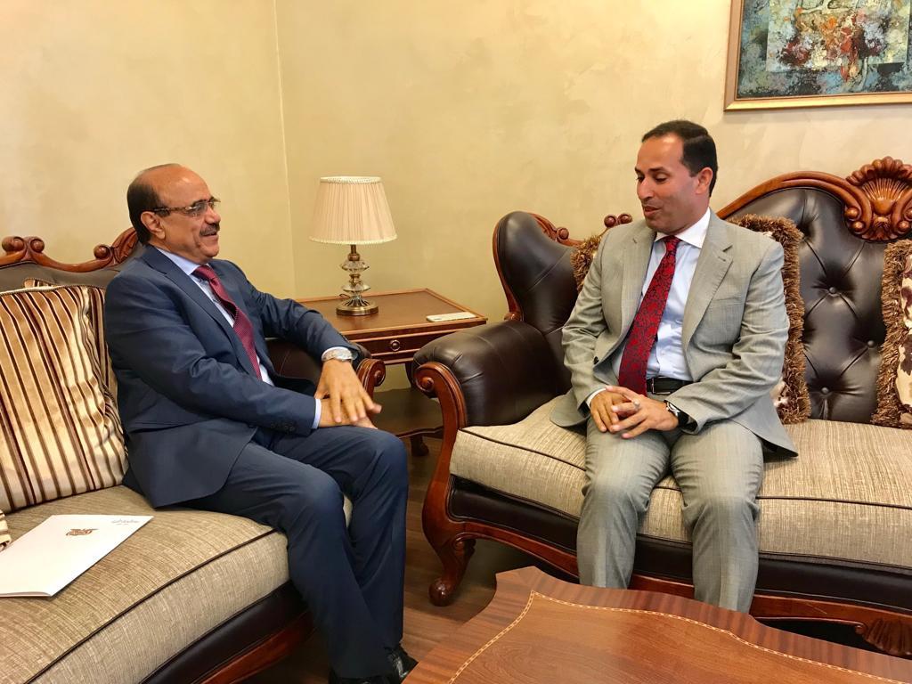 السفير العمراني يلتقي مدير دائرة الشؤون العربية بالخارجية الأردنية