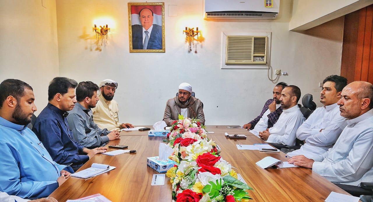 وزير الأوقاف والارشاد يناقش الإستعدادات الجارية لإستقابل الحجاج اليمنيين