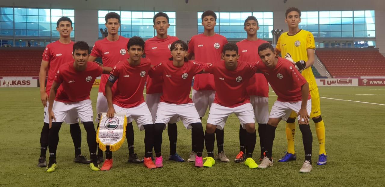 المنتخب الوطني للناشئين يحافظ على صدارة مجموعته بتعادله مع قطر 1 – 1 بالتصفيات الآسيوية