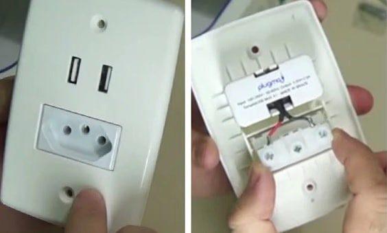 como fazer instalação tomado USB