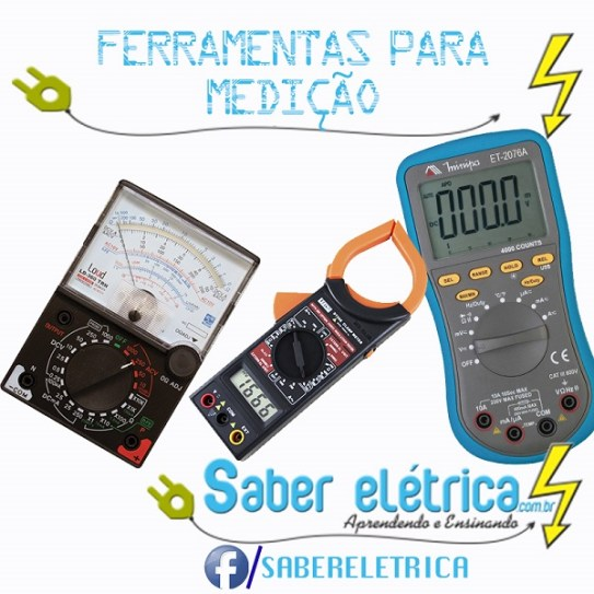 ferramentas para medição gradezas elétrica