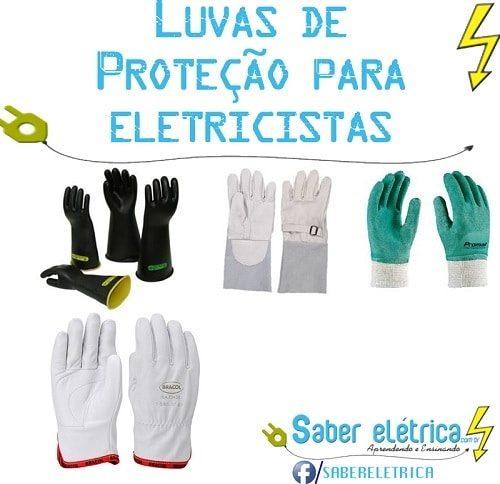 Tipos de luvas de proteção para eletricistas