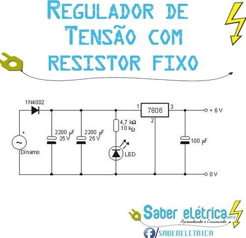Reduzir tensão com resistor