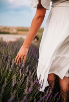 This Sabetha senior had her photo session in the lavender field.