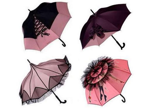 guarda chuvas rosas