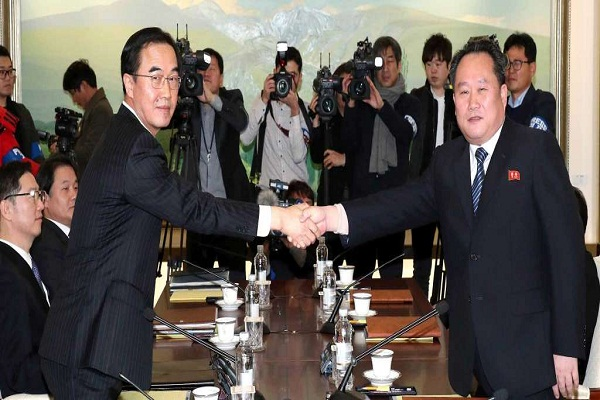Formal talks between North and South Korea 2 years later