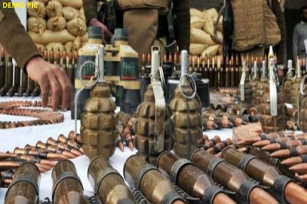 Major arms recovered in Pakistan