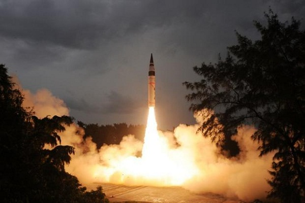 Successful test of Agni-V missile