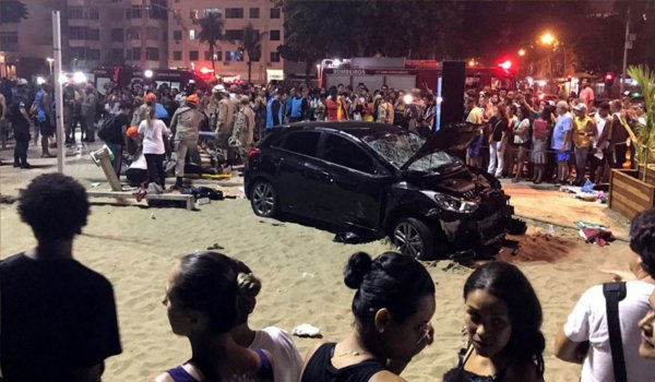 Rio de Janeiro car incident : Vehicle plows into Copacabana beach crowds, killing baby and injuring 16 people
