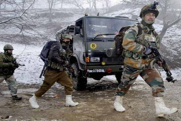 In Jammu and Kashmir encounter,  soldier injured (lead-1)