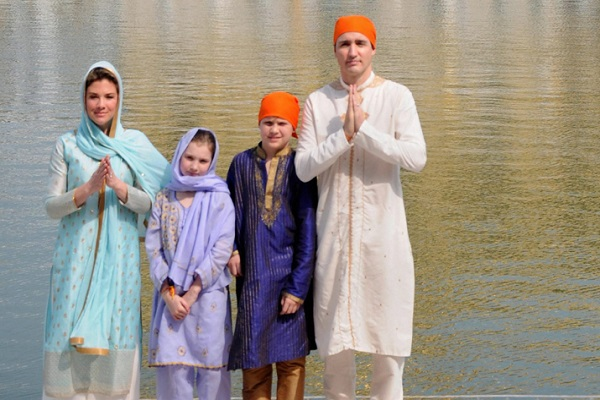 Tadro in the Golden Temple with family