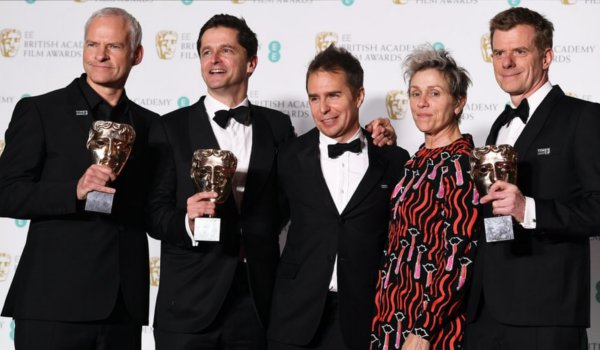 Time's Up Descends on Baftas as 'Three Billboards' Wins 5 Awards