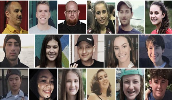 These are the victims of the Florida school shooting