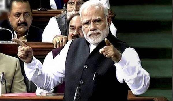 Congress split Andhra Pradesh for political gains says PM Modi in lok sabha
