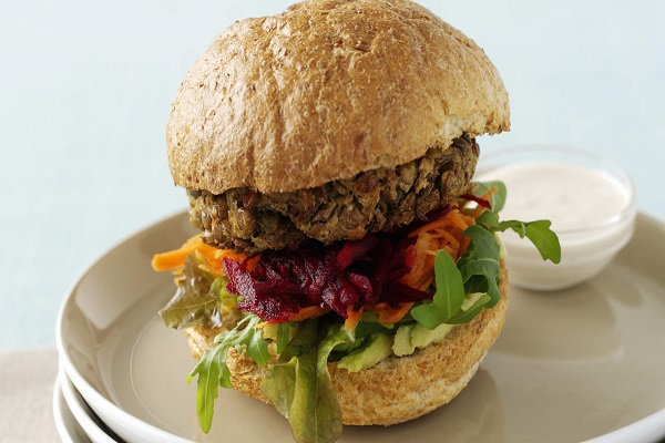 Now made at home healthy low fat mushroom burgers