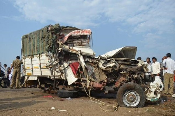 Rajasthan Four people killed in truck collision
