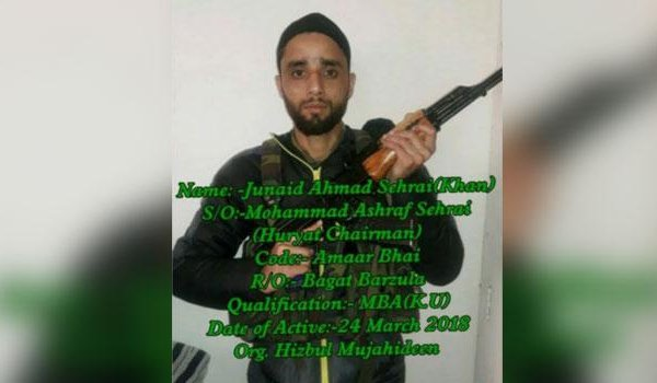 Son of Tehreek-e-Hurriyat chairman joins Hizbul Mujahideen
