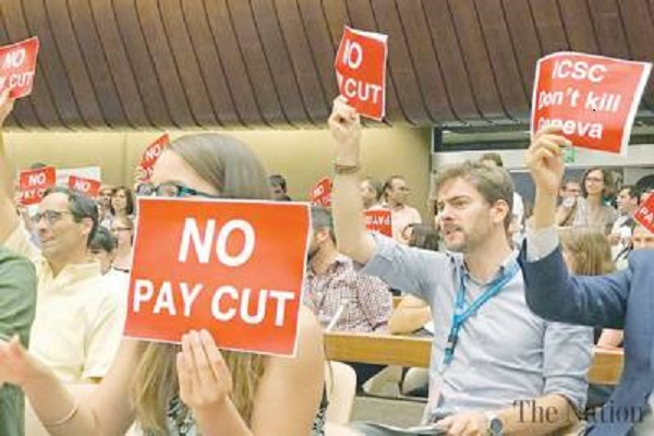 UN workers will be on strike tomorrow in protest of wage cut