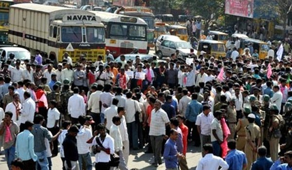 mass arrests before 'Million March' in Telangana