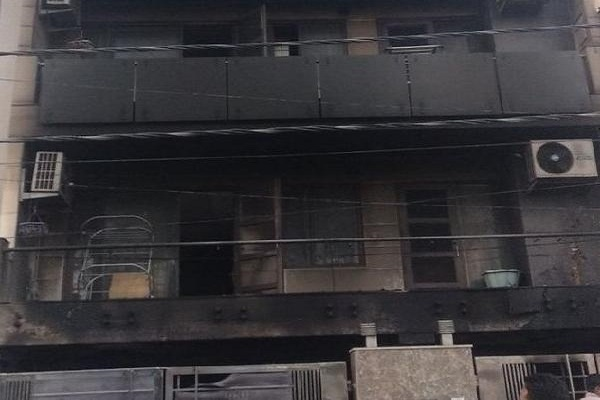 Fire at a house in Delhi Pitampura Kohat Inclave 4 dead