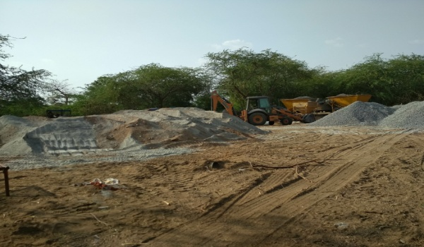 Gaurav path, sirohi, makroda, crusher dust