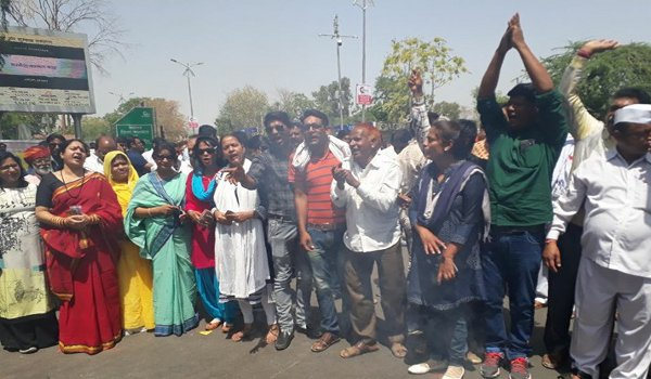 rajasthan Congress protest against inflation in jaipur
