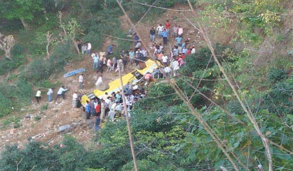 at least 27 children killed after School bus  skids off road into gorge in himachal pradesh