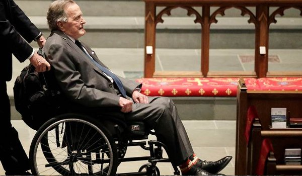 Former US President George HW Bush admitted to Houston hospital