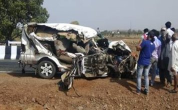 newly wed woman among five dead in jeep-truck collision in Guna