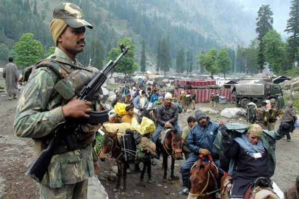 सीआरपीएफ,पुलिस ने अमरनाथयात्रा के सुरक्षा इंतजाम का जायजा लिया