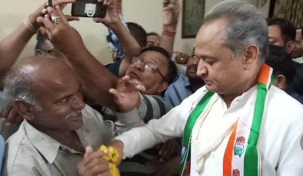 AICC general secretary Ashok Gehlot visits ajmer