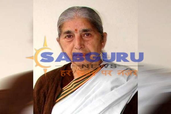 पूर्व मंत्री लक्ष्मीकांता चावला