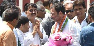 After 'Madarsa', Rahul visits 'gaushala' in Amethi