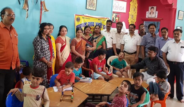 lions club Ajmer Umang Members spend time with disabled children