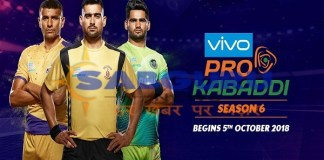 Vivo Pro Kabaddi Season 6 starts from October 5