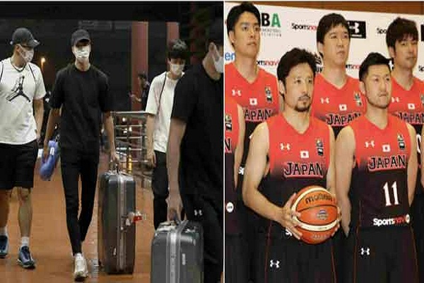 Japan 4 basketball players play night with women