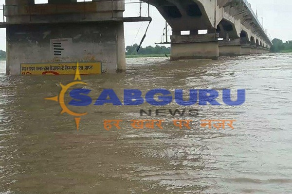 Water level of Saryu river at 13cm above the point of danger;