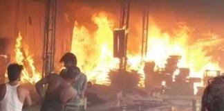 fire in Handicraft Factory in Churu