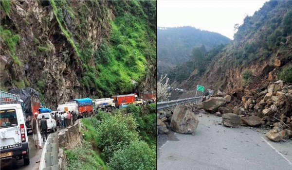 jammu and Kashmir national highway closed after landslides in Ramban