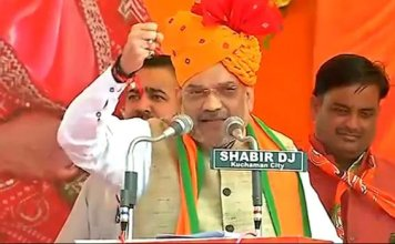 rajasthan assembly elections 2018 : bjp chief amit shah addresses mega rally in churu