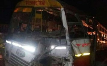 six killed, 10 injured as truck collides with bus in Aligarh
