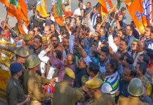 rafale row : ajmer bjp protest against rahul gandhi