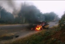 Four people killed in Hathras car fire