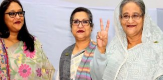 Bangladesh elections : Sheikh Hasina party Awami League wins large majority amid accusations of vote rigging