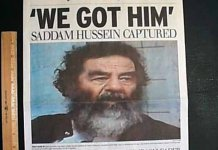 saddam hussein captured on 12 december 2003