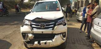 Krishna Lal Panwar injured in road accident