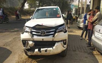 Krishna Lal Panwar injured in road accident
